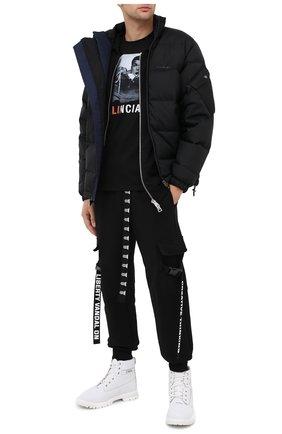 Мужская хлопковая футболка DIEGO VENTURINO черного цвета, арт. FW20-DV TS MAC   Фото 2