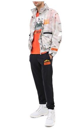 Мужская хлопковая футболка DIEGO VENTURINO оранжевого цвета, арт. FW20-DV TS MAC   Фото 2