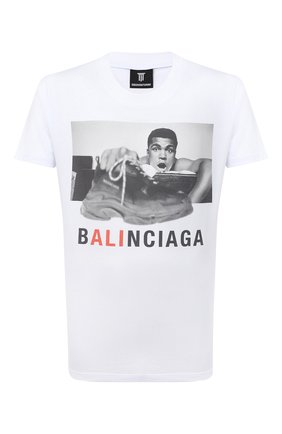 Мужская хлопковая футболка DIEGO VENTURINO белого цвета, арт. FW20-DV TS MAC | Фото 1