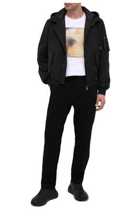 Мужская хлопковая футболка DIEGO VENTURINO белого цвета, арт. FW20-DV TS SCP | Фото 2