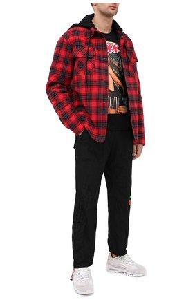 Мужская хлопковая футболка DIEGO VENTURINO черного цвета, арт. FW20-DV TS SUM   Фото 2