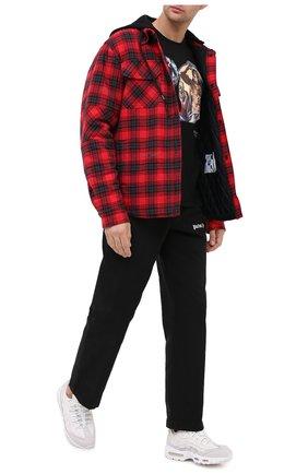 Мужская хлопковая футболка DIEGO VENTURINO черного цвета, арт. FW20-DV TS TPG | Фото 2