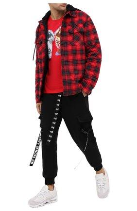 Мужская хлопковая футболка DIEGO VENTURINO красного цвета, арт. FW20-DV TS TPG   Фото 2