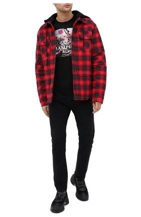 Мужская хлопковая футболка DIEGO VENTURINO черного цвета, арт. FW20-DV TS UCA | Фото 2