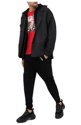 Мужская хлопковая футболка DIEGO VENTURINO красного цвета, арт. FW20-DV TS UCA | Фото 2