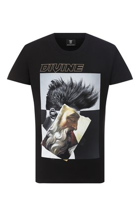 Мужская хлопковая футболка DIEGO VENTURINO черного цвета, арт. FW20-DV TS ZDP   Фото 1