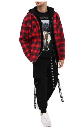 Мужская хлопковая футболка DIEGO VENTURINO черного цвета, арт. FW20-DV TS ZDP   Фото 2
