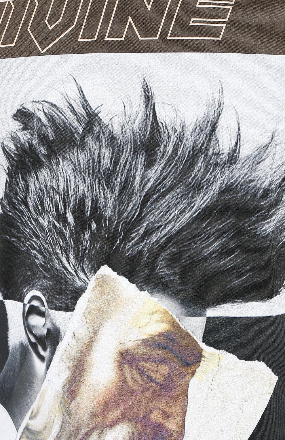 Мужская хлопковая футболка DIEGO VENTURINO хаки цвета, арт. FW20-DV TS ZDP | Фото 5