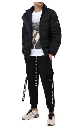 Мужская хлопковая футболка DIEGO VENTURINO белого цвета, арт. FW20-DV TS ZDP | Фото 2