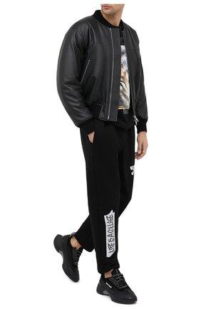 Мужская хлопковая футболка DIEGO VENTURINO черного цвета, арт. FW20-DV TSK AGP | Фото 2