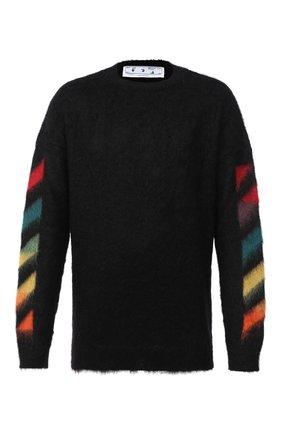 Мужской шерстяной свитер OFF-WHITE черного цвета, арт. 0MHA036E20KNI0011087   Фото 1