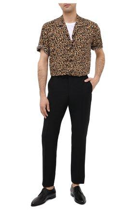 Мужской кожаные дерби SAINT LAURENT черного цвета, арт. 630668/AKP00 | Фото 2