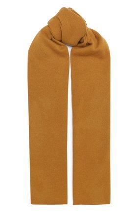 Мужской кашемировый шарф ALLUDE светло-коричневого цвета, арт. 205/30025 | Фото 1