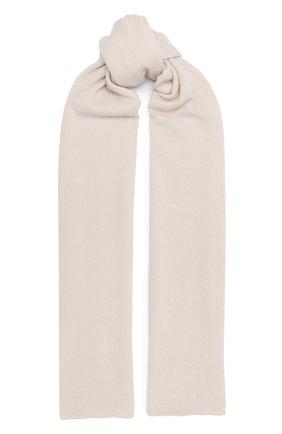 Мужской кашемировый шарф ALLUDE кремвого цвета, арт. 205/30025 | Фото 1