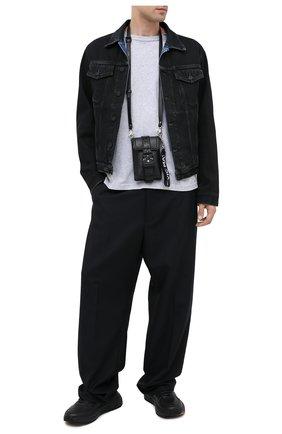 Мужская кожаная сумка VIC MATIE черного цвета, арт. 1Y0506T.999X160101 | Фото 2