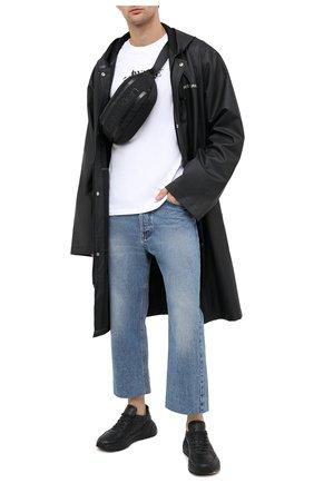 Мужская текстильная поясная сумка CALVIN KLEIN черного цвета, арт. K50K505522 | Фото 2