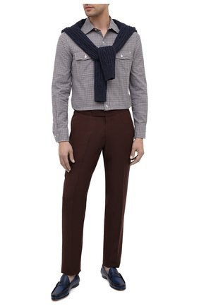 Мужские кожаные пенни-лоферы RALPH LAUREN темно-синего цвета, арт. 815775160 | Фото 2