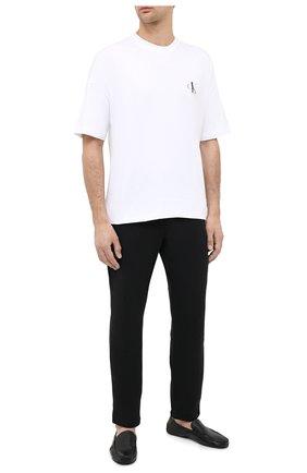 Мужского кожаные домашние туфли MORESCHI черного цвета, арт. 4498000/07/C0RTINA | Фото 2