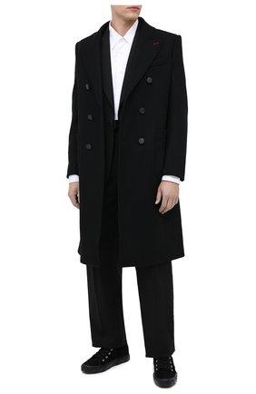 Мужские замшевые кеды OFF-WHITE черного цвета, арт. 0MIA119E20LEA0011000 | Фото 2