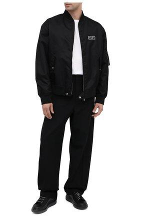 Мужские кожаные кеды ALEXANDER MCQUEEN черного цвета, арт. 625156/WHXMT | Фото 2