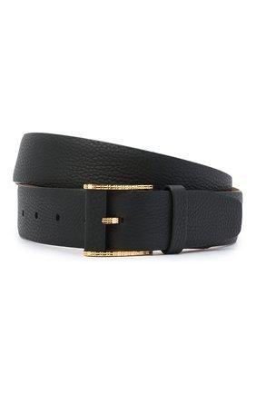 Мужской кожаный ремень ZILLI черного цвета, арт. MJL-CLAQE-01805/0256 | Фото 1