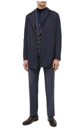 Мужской шерстяные брюки ZILLI синего цвета, арт. M0U-40-38N-D6500/0001 | Фото 2