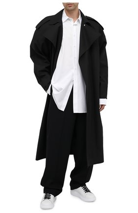 Мужские кожаные кеды ALEXANDER MCQUEEN черно-белого цвета, арт. 625156/WHXMT | Фото 2