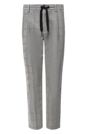 Мужские шерстяные брюки DOLCE & GABBANA светло-серого цвета, арт. GW08AT/FQ2LA   Фото 1 (Материал внешний: Шерсть; Длина (брюки, джинсы): Стандартные; Случай: Повседневный; Мужское Кросс-КТ: Брюки-трикотаж; Стили: Кэжуэл)