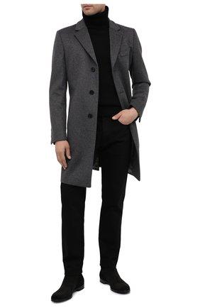 Мужские замшевые сапоги SERGIO ROSSI черного цвета, арт. A91380-MCRC01 | Фото 2
