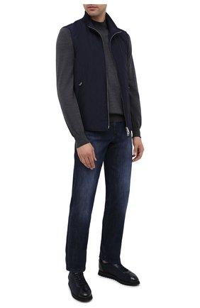 Мужские комбинированные кроссовки DOUCAL'S темно-синего цвета, арт. DU1791WINNPM0082B15/FUR T0NGUE | Фото 2