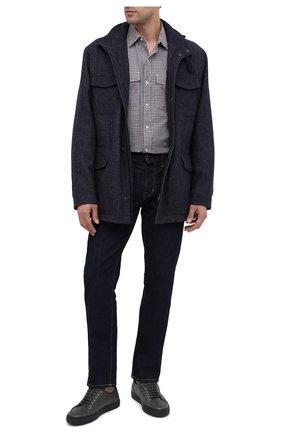 Мужские кожаные кеды BRIONI темно-серого цвета, арт. QHH40L/09712 | Фото 2