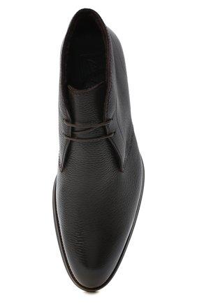 Мужские кожаные ботинки BRIONI темно-коричневого цвета, арт. QQC30L/09712 | Фото 5