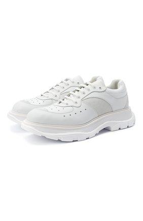 Мужские комбинированные кроссовки ALEXANDER MCQUEEN белого цвета, арт. 627222/WHRH5 | Фото 1