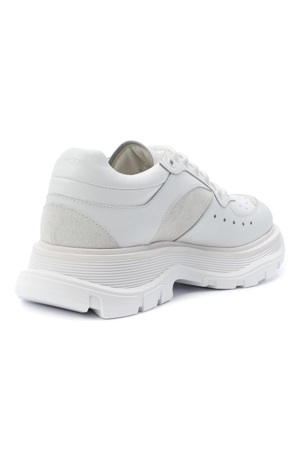 Мужские комбинированные кроссовки ALEXANDER MCQUEEN белого цвета, арт. 627222/WHRH5   Фото 4