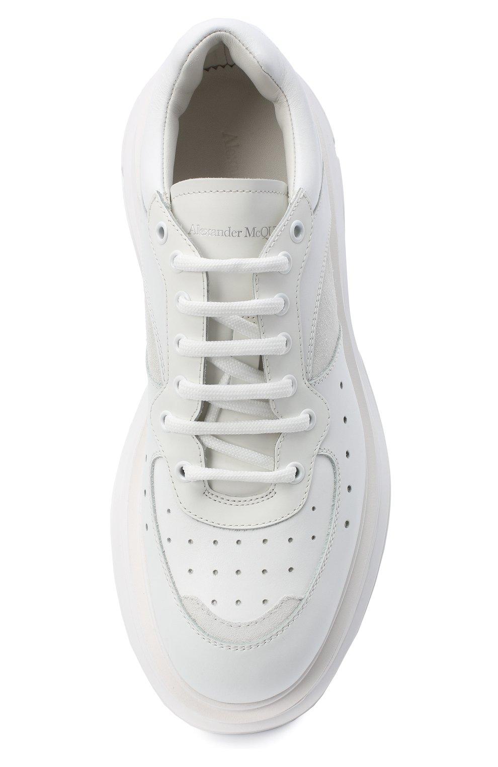 Мужские комбинированные кроссовки ALEXANDER MCQUEEN белого цвета, арт. 627222/WHRH5   Фото 5