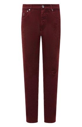 Мужские джинсы BRUNELLO CUCINELLI бордового цвета, арт. M262PX2340 | Фото 1