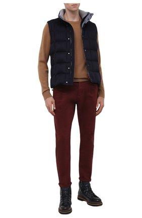 Мужские джинсы BRUNELLO CUCINELLI бордового цвета, арт. M262PX2340 | Фото 2