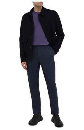 Мужские шерстяные брюки BRUNELLO CUCINELLI темно-синего цвета, арт. M038PE1460   Фото 2
