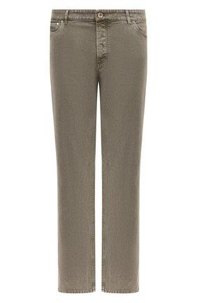 Мужские джинсы BRUNELLO CUCINELLI хаки цвета, арт. M0H43D2210 | Фото 1