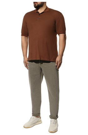 Мужские джинсы BRUNELLO CUCINELLI хаки цвета, арт. M0H43D2210 | Фото 2