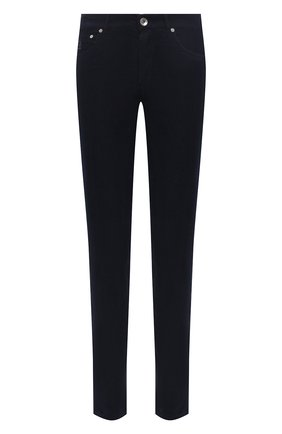 Мужской хлопковые брюки BRUNELLO CUCINELLI темно-синего цвета, арт. M279DI1780 | Фото 1