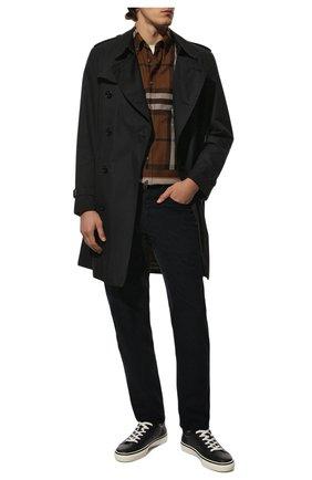 Мужской хлопковые брюки BRUNELLO CUCINELLI темно-синего цвета, арт. M279DI1780 | Фото 2