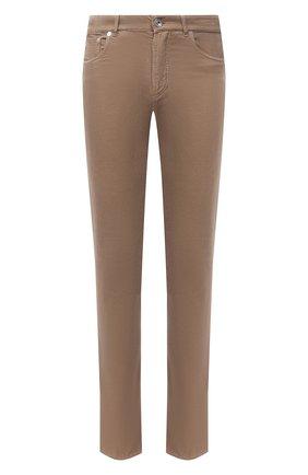 Мужские хлопковые брюки BRUNELLO CUCINELLI темно-бежевого цвета, арт. M279DI1780 | Фото 1