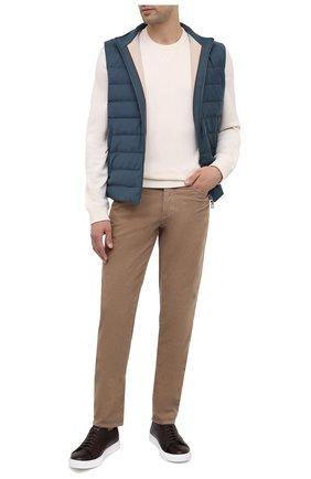 Мужские хлопковые брюки BRUNELLO CUCINELLI темно-бежевого цвета, арт. M279DI1780 | Фото 2