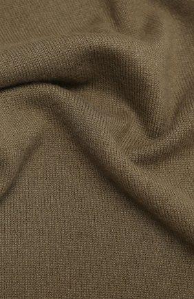 Мужской кашемировый шарф ALLUDE хаки цвета, арт. 205/30025 | Фото 2