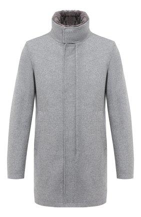 Мужской шерстяное пальто HERNO серого цвета, арт. CA0071U/39601 | Фото 1