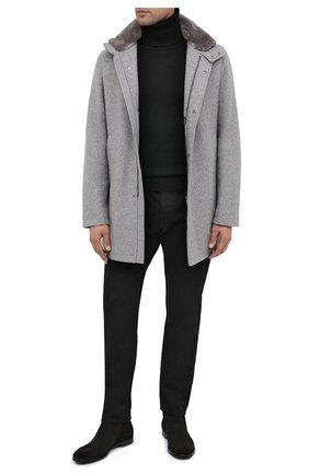 Мужской шерстяное пальто HERNO серого цвета, арт. CA0071U/39601 | Фото 2