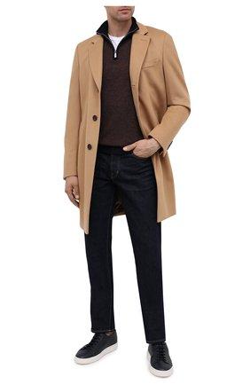 Мужской кашемировый джемпер ANDREA CAMPAGNA коричневого цвета, арт. WU01-470-FI00BC | Фото 2