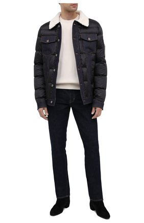 Мужская пуховая куртка BALMAIN темно-синего цвета, арт. UH18811/X036 | Фото 2