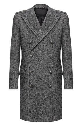 Мужской пальто BALMAIN серого цвета, арт. UH18090/W066 | Фото 1